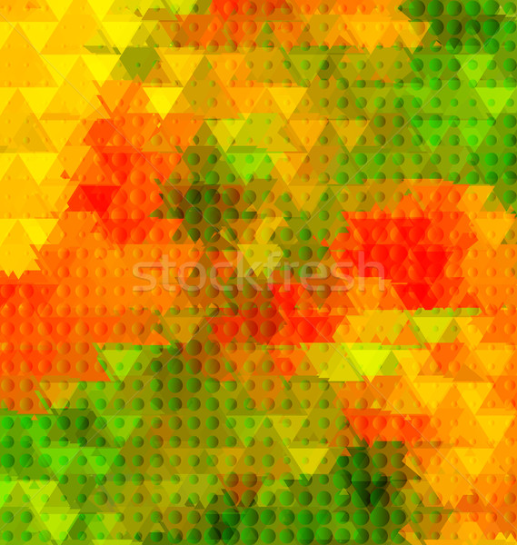 Driehoek gouden poppy half wazig abstract Stockfoto © Zebra-Finch