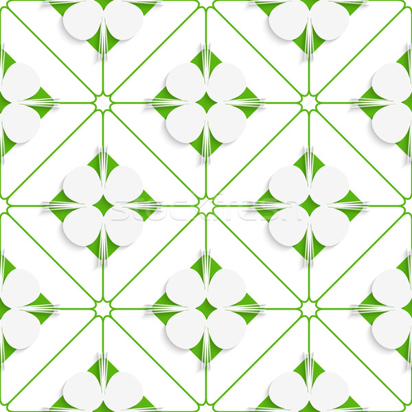 Diagonal clove leaves on green pattern Stock photo © Zebra-Finch