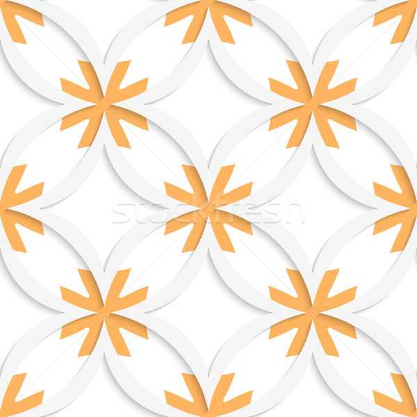 White vertical pointy squares with orange layering seamless Stock photo © Zebra-Finch