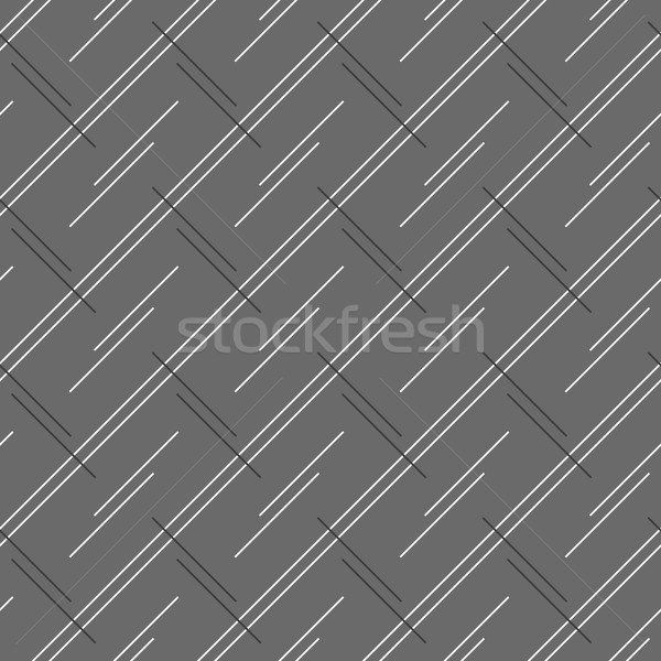 Monochrome pattern with doubled strips forming diagonal rectangl Stock photo © Zebra-Finch