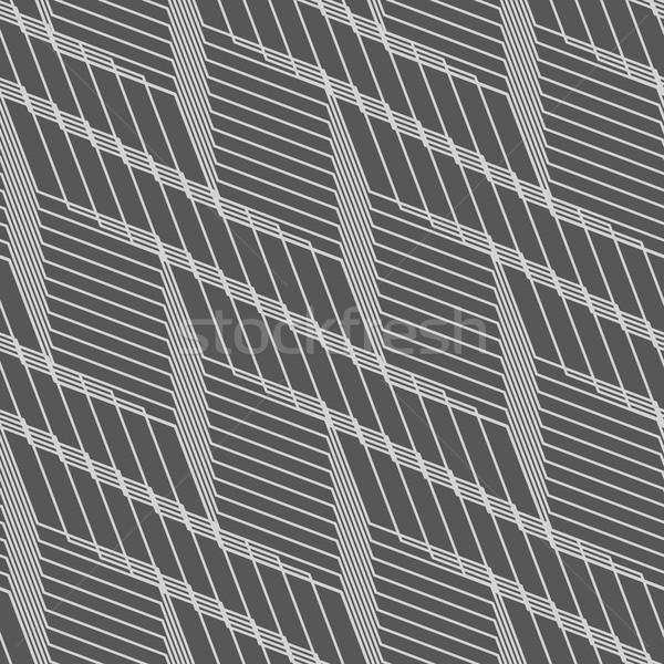 モノクロ パターン グレー 縞模様の 対角線 グリッド ストックフォト © Zebra-Finch
