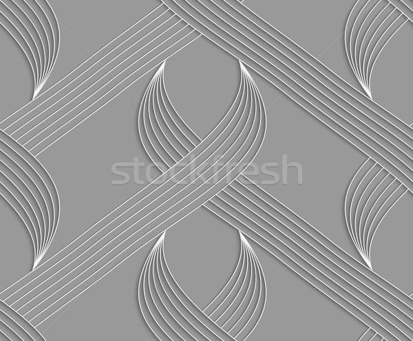 Pasiasty biały szary Zdjęcia stock © Zebra-Finch