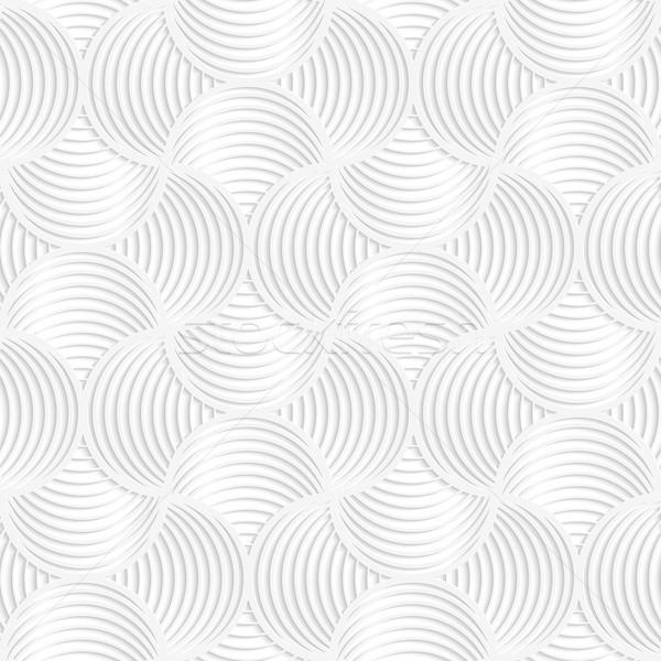 Fehér papír 3D karcsú csíkok kicsi Stock fotó © Zebra-Finch