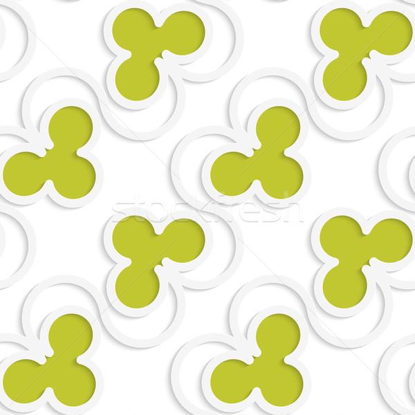 Blanco 3D colores verde geométrico patrón Foto stock © Zebra-Finch