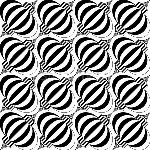 Black and white diagonal striped bulbs Stock photo © Zebra-Finch