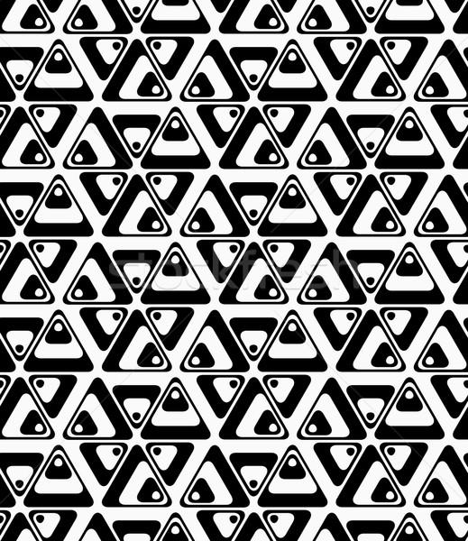 Black and white rotated triangles Stock photo © Zebra-Finch