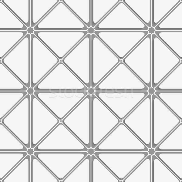 White and gray triangular tile ornament Stock photo © Zebra-Finch