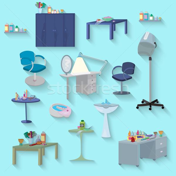 Meble zestaw projektu salon piękności spa Zdjęcia stock © Zebra-Finch