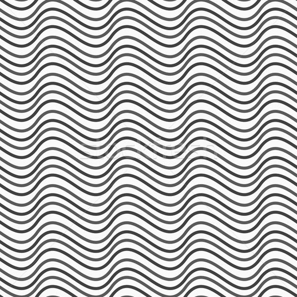 Gris horizontal ola textura resumen geométrico Foto stock © Zebra-Finch