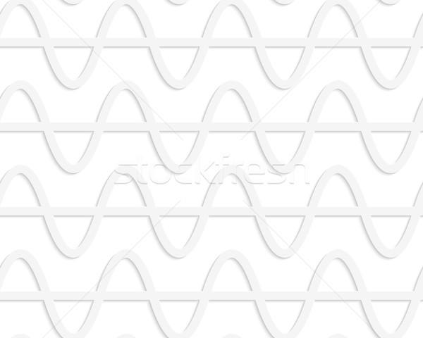 紙 白 水平な 波 レベル 行 ストックフォト © Zebra-Finch