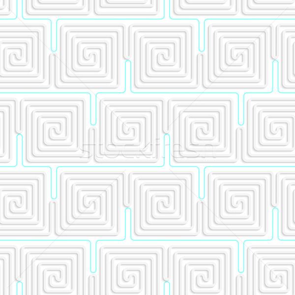 3D biały spirali niebieski bezszwowy Zdjęcia stock © Zebra-Finch