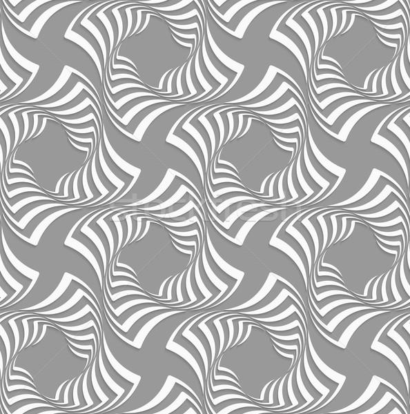 3D fehér négyzetek szürke végtelenített geometrikus minta Stock fotó © Zebra-Finch