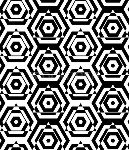 Siyah beyaz kesmek şık geometrik modern soyut Stok fotoğraf © Zebra-Finch
