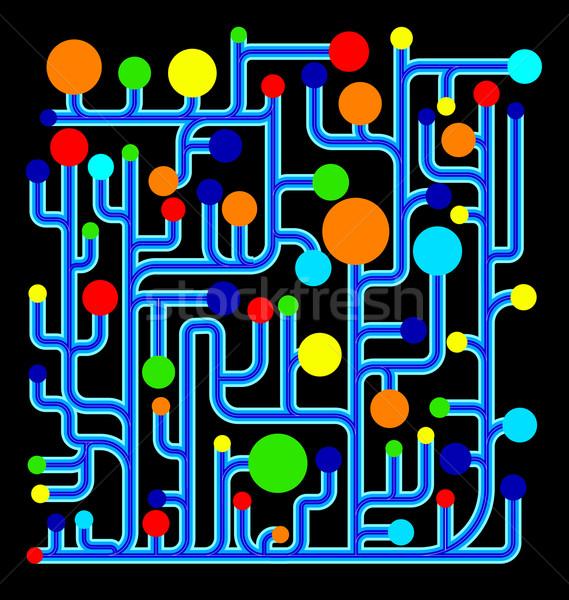 Színes net absztrakt vektor diagram körök Stock fotó © Zebra-Finch