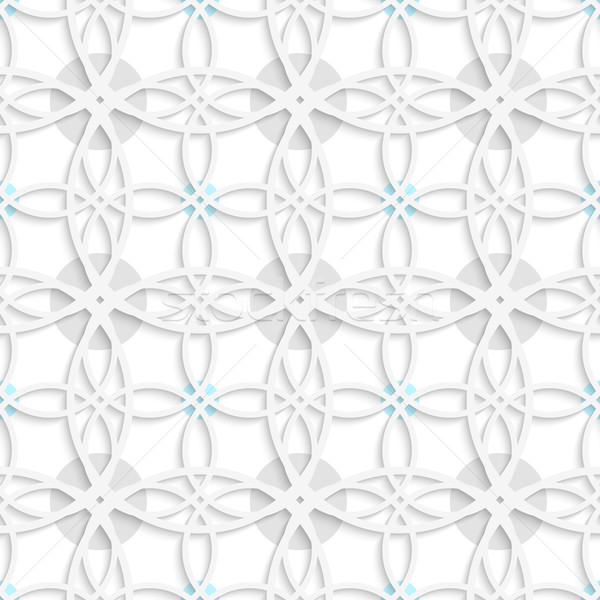 Geometrical pattern with gray and blue dots Stock photo © Zebra-Finch