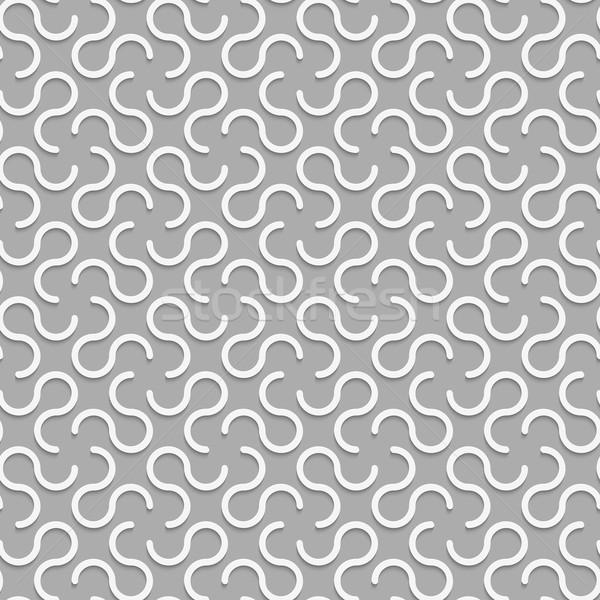 3D white omega like shapes Stock photo © Zebra-Finch