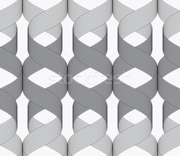 Donkere licht patroon naadloos meetkundig Stockfoto © Zebra-Finch