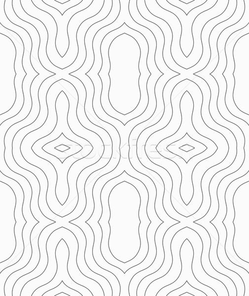 тонкий серый орнамент бесшовный геометрический Сток-фото © Zebra-Finch