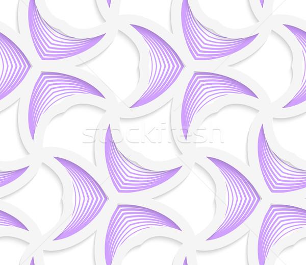 3D púrpura geométrico a rayas sin costura Foto stock © Zebra-Finch