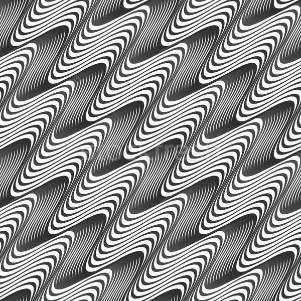 Gri diyagonal dalgalı doku eğim tek renkli Stok fotoğraf © Zebra-Finch