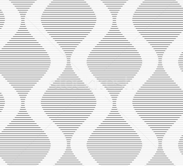 Gri çizgili dalgalar şık geometrik modern Stok fotoğraf © Zebra-Finch