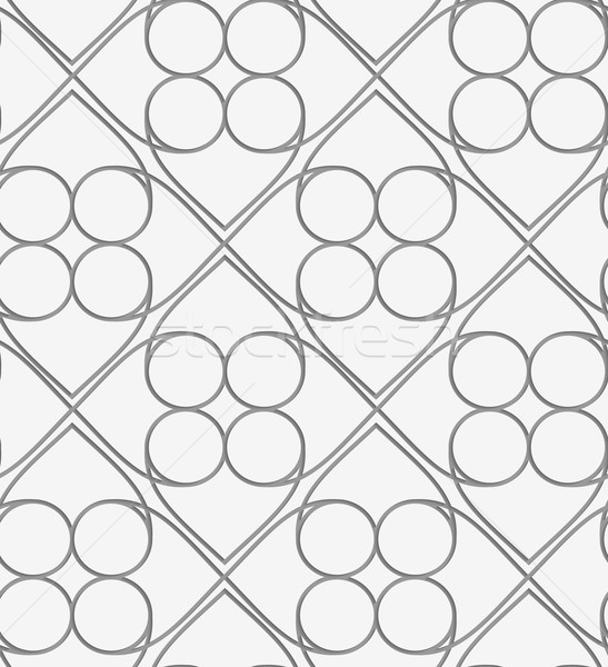 Perforated squares and circles Stock photo © Zebra-Finch