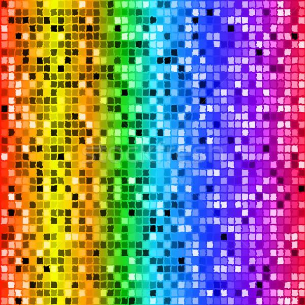 Luminoso Rainbow colorato rettangolo mosaico Foto d'archivio © Zebra-Finch