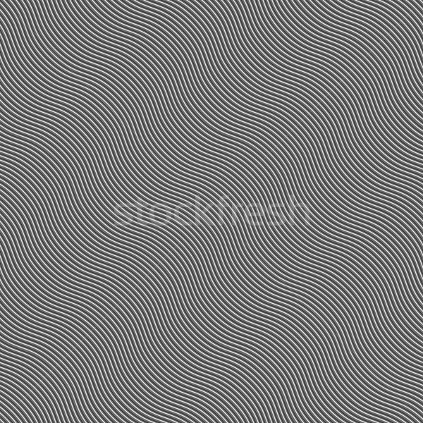 Monochrome pattern with light gray and black diagonal wavy guill Stock photo © Zebra-Finch