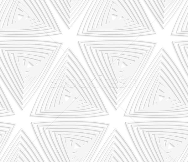 Papír kivágás fehér szürke kivágás papír hatás Stock fotó © Zebra-Finch