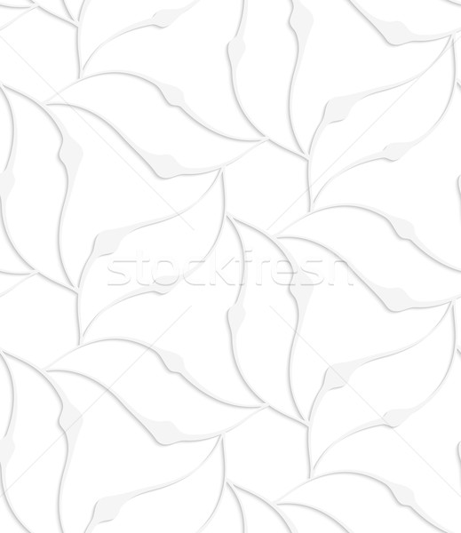 Paper white pointy leaves forming flower Stock photo © Zebra-Finch