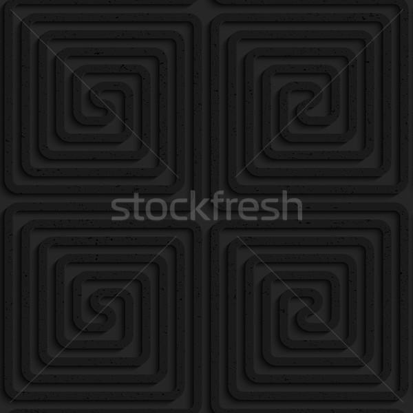 Czarny plastikowe placu bezszwowy geometryczny wzór Zdjęcia stock © Zebra-Finch