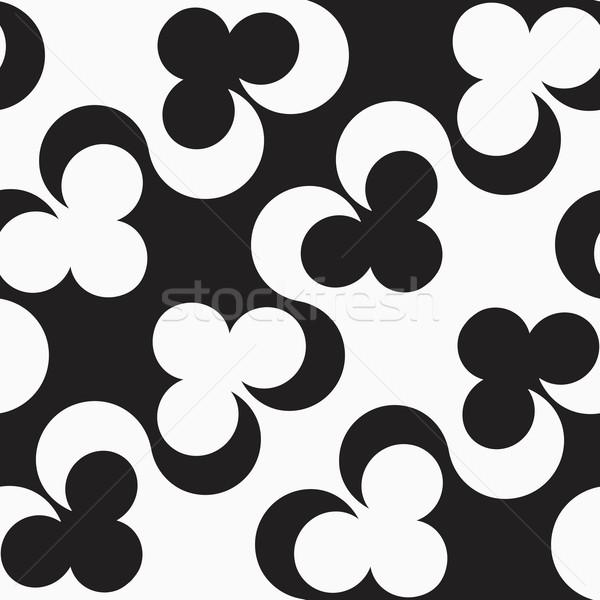 Black and white alternating diagonal clubs Stock photo © Zebra-Finch