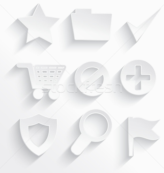 белый Интернет иконы звездой 3D пластиковых реалистичный Сток-фото © Zebra-Finch