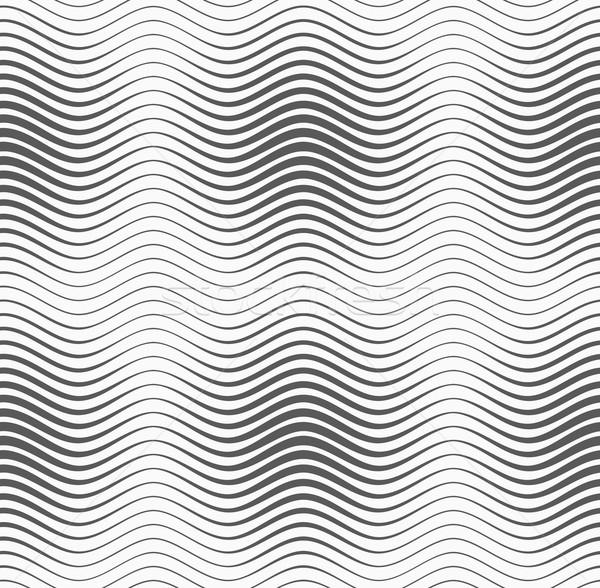 Szürke hullámos vonalak monokróm absztrakt mértani Stock fotó © Zebra-Finch