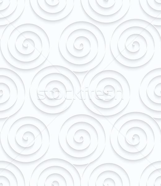 Quilling paper three spirals Stock photo © Zebra-Finch
