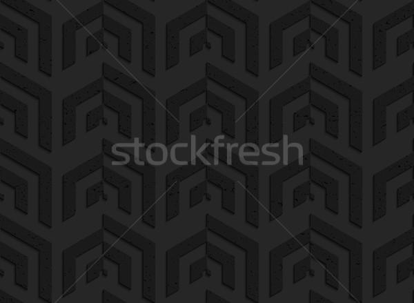Czarny plastikowe pionowy rogu sieci Zdjęcia stock © Zebra-Finch