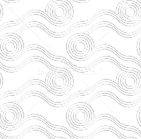 Papír fehér végtelenített kivágás hatás valósághű Stock fotó © Zebra-Finch