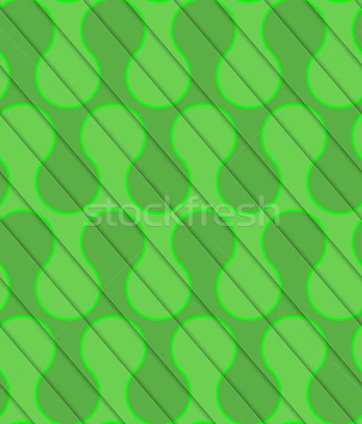 Retro 3D diagonal cut green waves Stock photo © Zebra-Finch