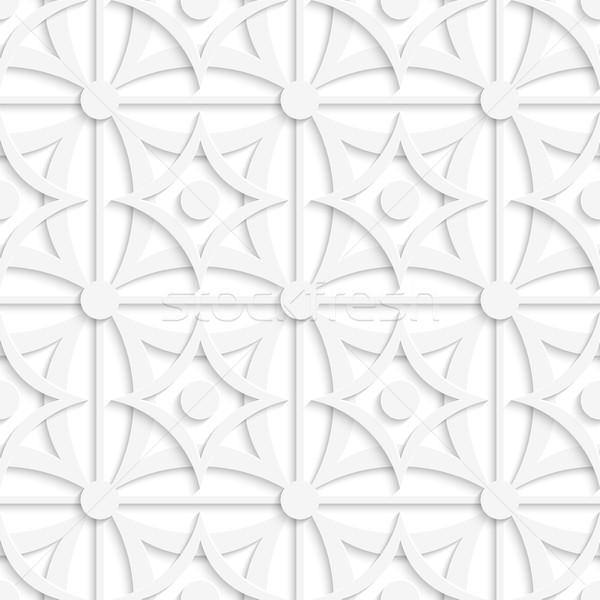 Geometric white pattern with layering and dots Stock photo © Zebra-Finch