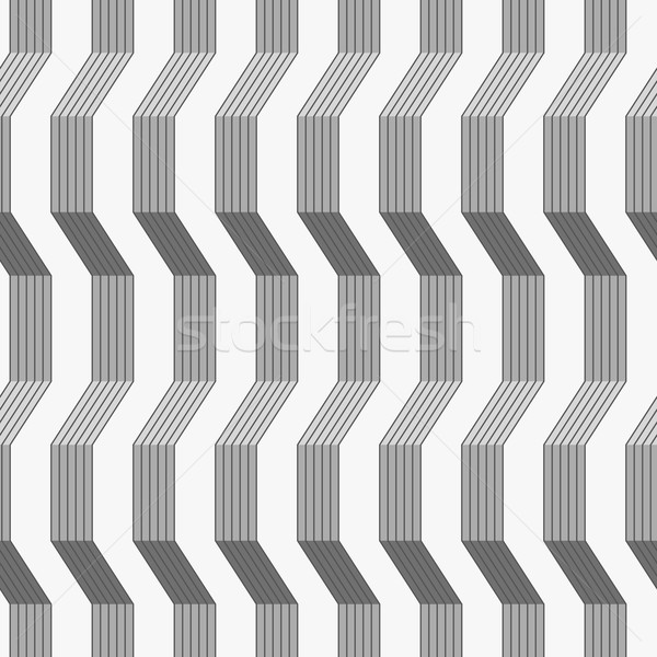 Gray ornament with warping stripes shaded Stock photo © Zebra-Finch