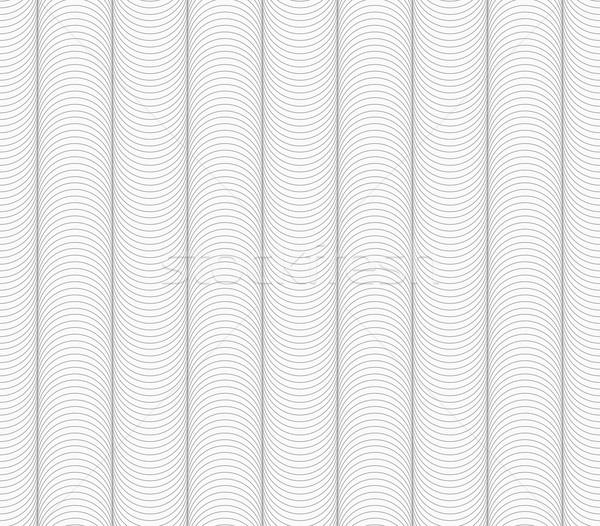 Delgado gris a rayas olas resumen geométrico Foto stock © Zebra-Finch