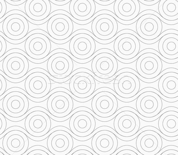 серый Круги прикасаться волнистый линия монохромный Сток-фото © Zebra-Finch