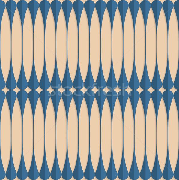 Retro fold blue clubs Stock photo © Zebra-Finch
