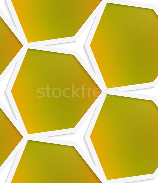 White hexagonal net with mesh seamless pattern Stock photo © Zebra-Finch
