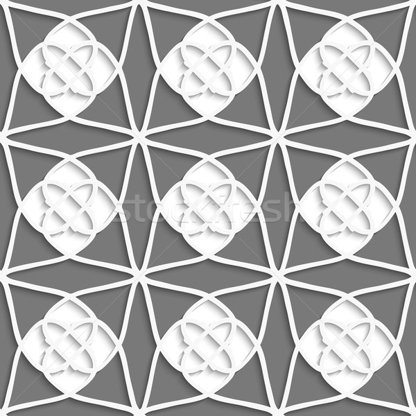 White geometrical ornament with white layering on gray Stock photo © Zebra-Finch
