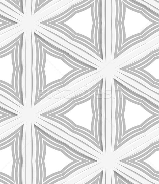 3D 白 縞模様の グレー シームレス 幾何学模様 ストックフォト © Zebra-Finch