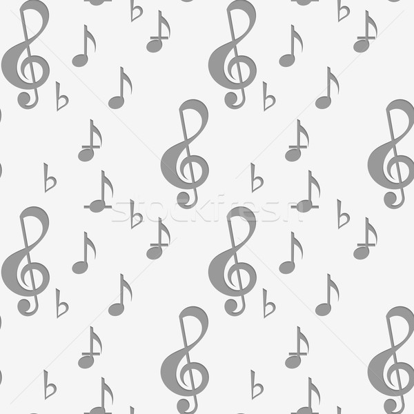Perforated G clef and music notes Stock photo © Zebra-Finch