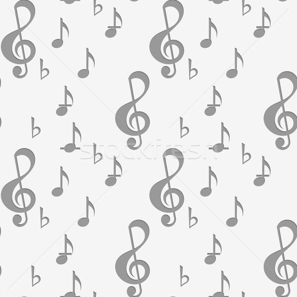 Muzyki zauważa muzyki geometryczny nowoczesne monochromatyczny 3D Zdjęcia stock © Zebra-Finch