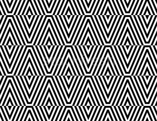 Siyah beyaz çizgili elmas şık geometrik modern Stok fotoğraf © Zebra-Finch