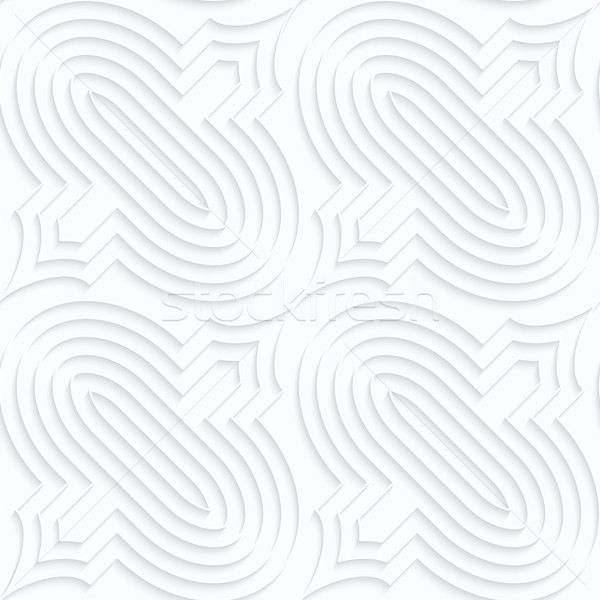 Blanco papel geométrico 3D Foto stock © Zebra-Finch